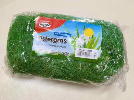 Produktbild Ostergras, 50g Packung, grüne Kokosfasern