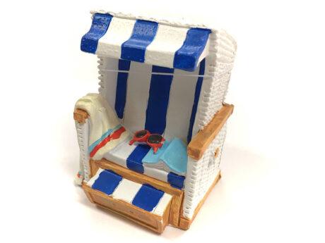 Produktbild Strandkorb Spardose blau bei Die Pappmäuse