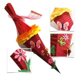 Produktbild Schultüte Motiv Blüten Schmetterling © Sigrun Toben